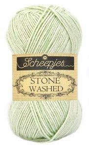 Scheepjes Stone Washed set van 5 bollen van 50 gram in de verpakking.